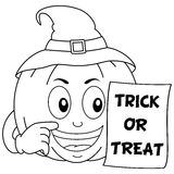 Coloring Halloween Pumpkin Trick or Treat Stock Photography
