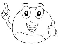 Coloring Happy Chestnut with Thumbs Up Stock Photography