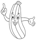 Coloring Happy Smiling Zucchini Character Royalty Free Stock Images