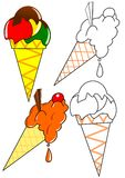 Coloring - ice cream Stock Image
