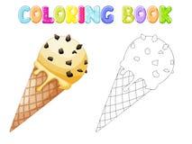 Coloring Ice cream vector illustration