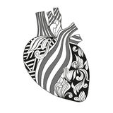 Coloring illustration of heart. Royalty Free Stock Photos