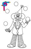 Coloring image with clown Stock Image