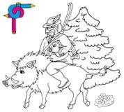 Coloring image hunter Royalty Free Stock Photo