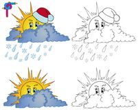 Coloring image weather 1 Stock Image