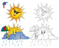 Coloring image weather 2 Royalty Free Stock Photography