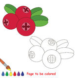 Coloring kid game. Educational page to be colored. Royalty Free Stock Photos