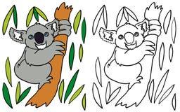 Coloring Koala stock photos