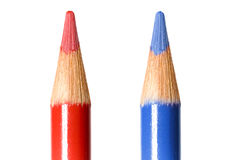Coloring Leads. Bright and colorful coloring pencils isolated royalty free stock photo