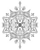 Coloring Leaves Mandala Stock Image
