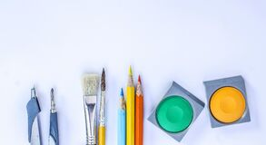 Coloring Materials Royalty Free Stock Images