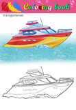 Coloring of modern yacht. Royalty Free Stock Image