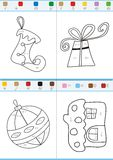 Coloring by numbers. Set 2. Coloring book by numbers. Vectorial Royalty Free Stock Images