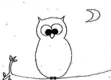 Coloring owl. An illustration of an owl stock illustration