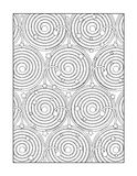 Coloring page for adults, or black and white ornamental background Stock Photos