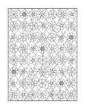 Coloring page for adults, or black and white ornamental background Stock Image