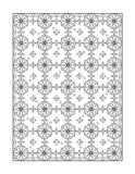 Coloring page for adults, or black and white ornamental background Royalty Free Stock Image