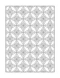 Coloring page for adults, or black and white ornamental background Royalty Free Stock Photos