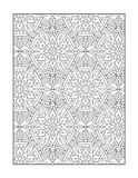 Coloring page for adults, or black and white ornamental background Stock Photography