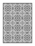 Coloring page for adults, or black and white ornamental background Royalty Free Stock Images