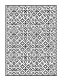 Coloring page for adults, or black and white ornamental background Royalty Free Stock Photography
