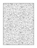 Coloring page for adults, or black and white ornamental background Stock Images
