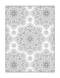 Coloring page for adults, or black and white ornamental background Royalty Free Stock Photo