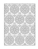 Coloring page for adults, or black and white ornamental background vector illustration