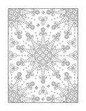 Coloring page for adults, or black and white ornamental background royalty free illustration