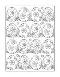 Coloring page for adults and children, or black and white Easter ornamental background Stock Photo