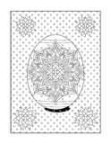 Coloring page for adults with painted easter egg Royalty Free Stock Photo