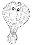 Coloring page - balloon - illustration for the children Royalty Free Stock Photos