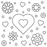 Coloring page. Vector illustration. Coloring page. Black and white vector illustration Royalty Free Stock Image