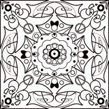 Coloring page book with decorative elements illustration Stock Photo