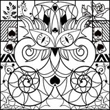 Coloring page book with decorative ornamental elements Royalty Free Stock Image