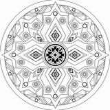 Coloring page book with decorative ornamental elements Stock Images