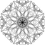 Coloring page book with decorative ornamental elements Stock Photos