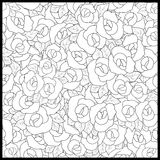 Coloring page book with decorative ornamental floral elements bl Stock Photo