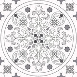 Coloring page book with decorative seamless  black and white pattern illustration Stock Photos