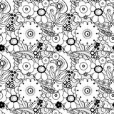 Coloring page book with decorative seamless ornamental elements Stock Image