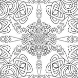 Coloring page book with decorative seamless ornamental elements  pattern illustration Stock Images