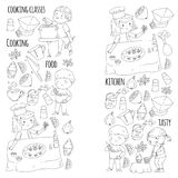 Coloring Page For Book Kitchenware Cooking Class Courses Children And Parents