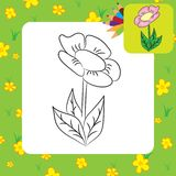 Coloring page. Cartoon flower Royalty Free Stock Photography