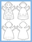 The coloring page with connecting elements - illustration for the kids Royalty Free Stock Photography