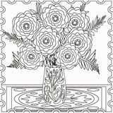 Coloring page decorative decorative elements flowers  illustration Royalty Free Stock Images