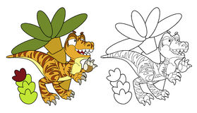 Coloring page - dinosaur - coloring page -  Stock Photo
