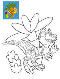 Coloring page - dinosaur Stock Photography