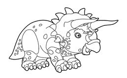Coloring page - dinosaur - illustration for the children Royalty Free Stock Photography