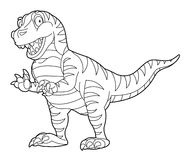 Coloring page - dinosaur - illustration for the children Stock Photos