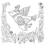 Coloring page with doodle design Royalty Free Stock Photo